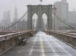 Brooklyn Bridge, March snow