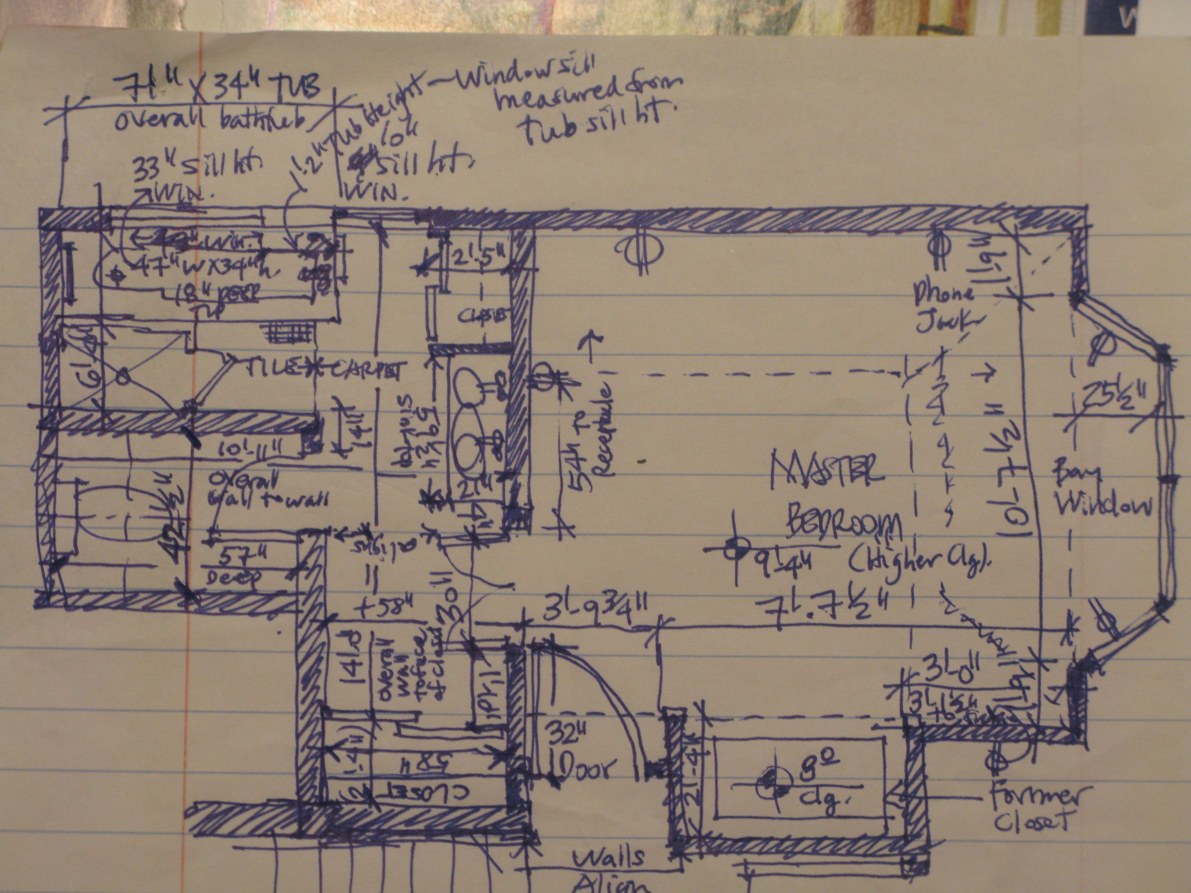 Client Case Study 2 Can This House Be Saved Green Remodel Master Bath Field Measurements Indigo Architect